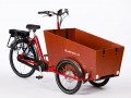 B-062 BAKFIETS CLASSIC TRIKE SMAL STEPS NNi ROOD MET LICHTE SHIMANO STEPS MIDDEN MOTOR_a